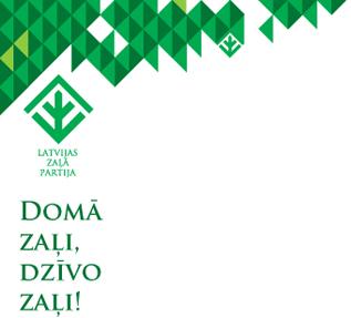 Logo: Latvijas Zaļā Partija